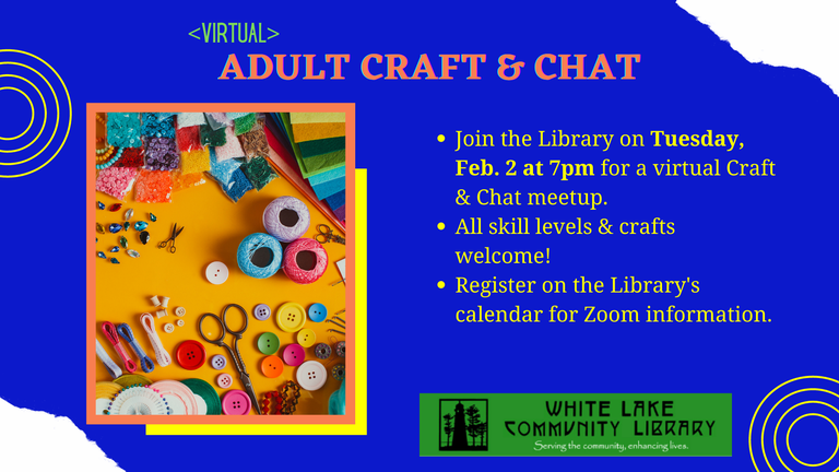 Adult Craft & Chat February