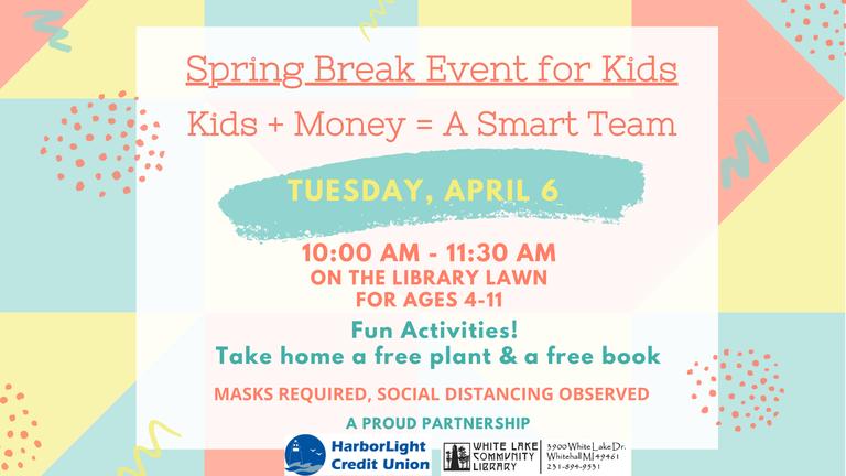 April 6 kids $ event SLIDE