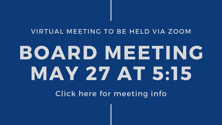 Board Meeting May 27
