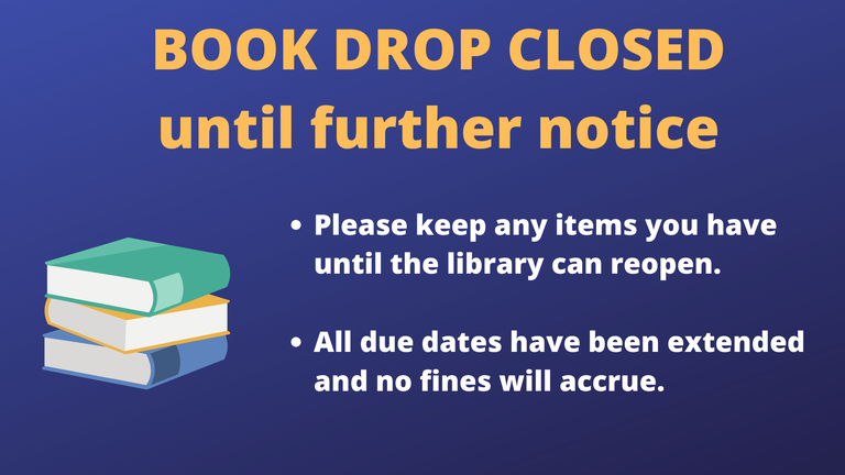 book drop closed