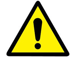 caution sign for closing alerts