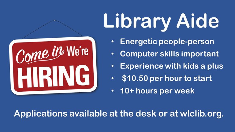 help wanted aide fall 2019