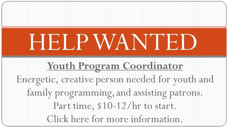 help wanted youth program coordinator for home page dec 2018