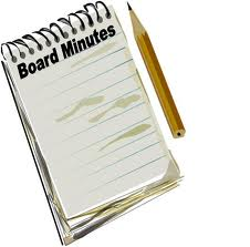 Board mtg minutes icon