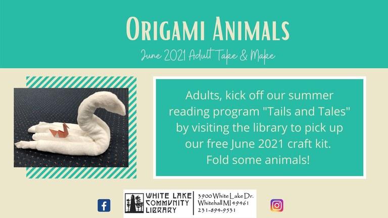 June 2021 Origami Animals Craft