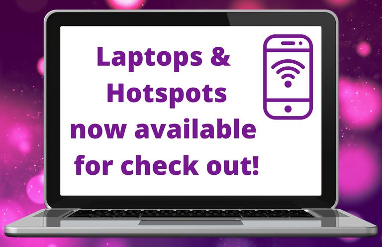 Laptops and hotspots purple