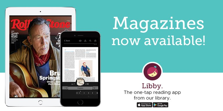 Image and link for finding RBdigital magazines on the Libby app
