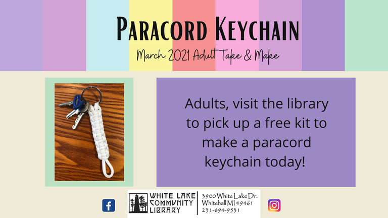 Paracord Keychain March 21