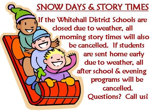 Snow days and story time 2015