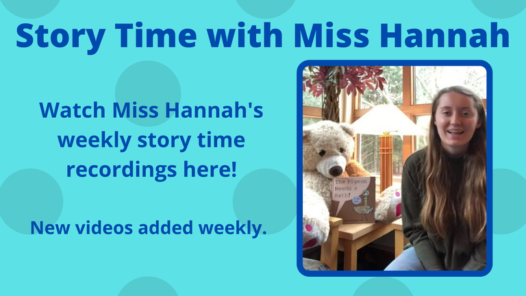 Story Time with Miss Hannah slide