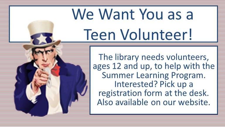 teen volunteers wanted.JPG