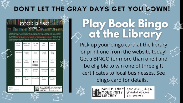 Winter Book Bingo slide