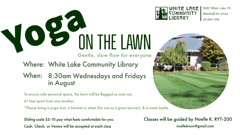 yoga on the lawn august 2020