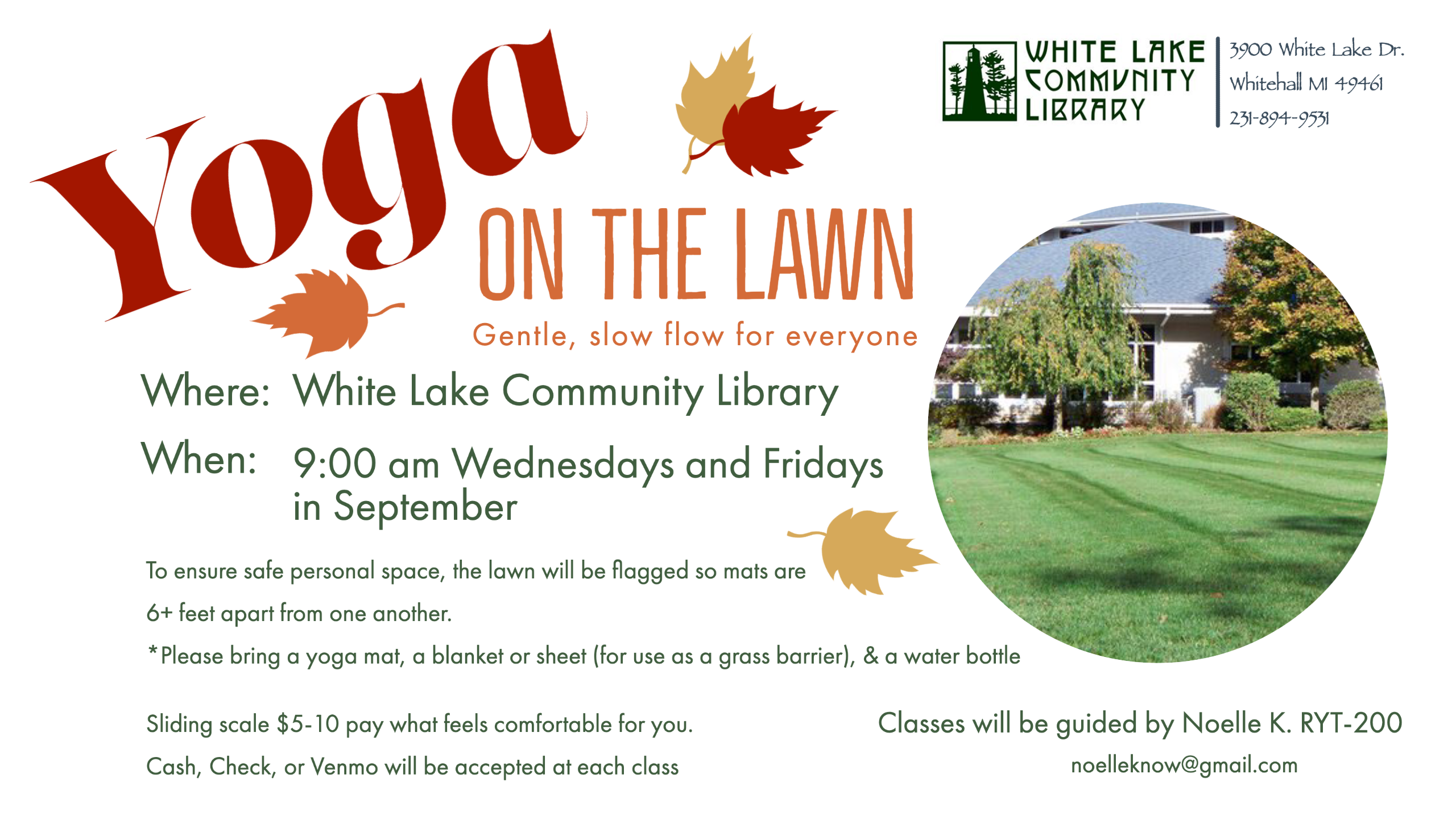 Yoga on the lawn September