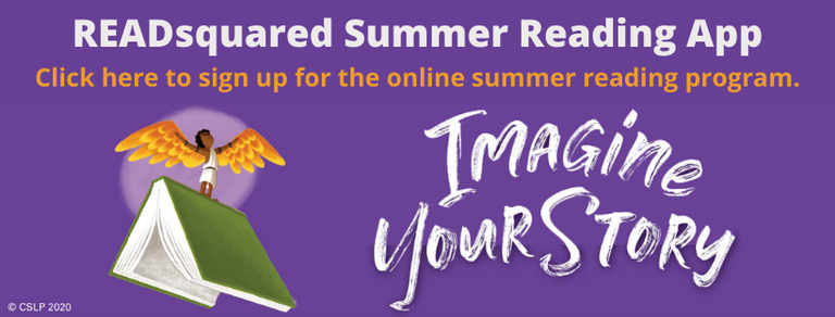 """A link to the app for participating in the 2020 """"Imagine Your Story"""" summer reading program."""